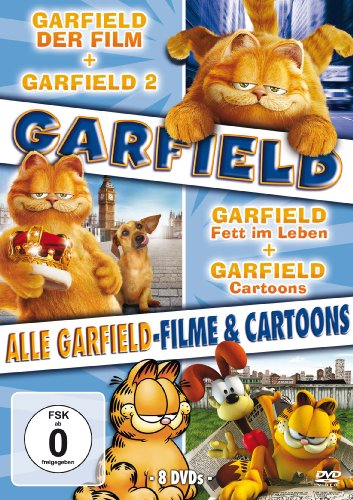 Alle Garfield-Filme und Cartoons (8 DVDs)