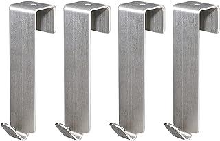 FDKJOK Deurhaak van roestvrij staal, omkeerbare haken, te gebruiken zonder boren, omkeerbare haken, voor keukenkasten, com...