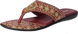 Khadim's Women Maroon Ethnic Flats