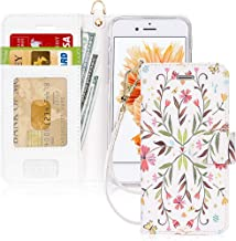 iPhone 6 Case, iPhone 6S Case, FYY [RFID Blocking Wallet] 100% Handmade Wallet Case Stand Cover Credit Card Protector for ...