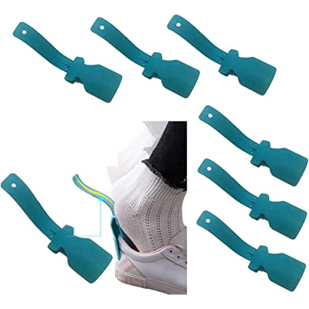 2pcs Lazy Wear Shoe Horn Helper Shoes Lifter Wear Shoehorn Shoe Wear Aid KS