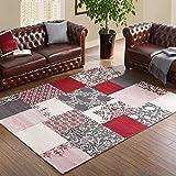 AILI Alfombra de la Sala de Estar, alfombras de Alta Densidad Modernas del Dormitorio del Chenille del Ante, Manta a Cuadros a Cuadros del Color Creativo (tamaño : 120 * 180cm-b)