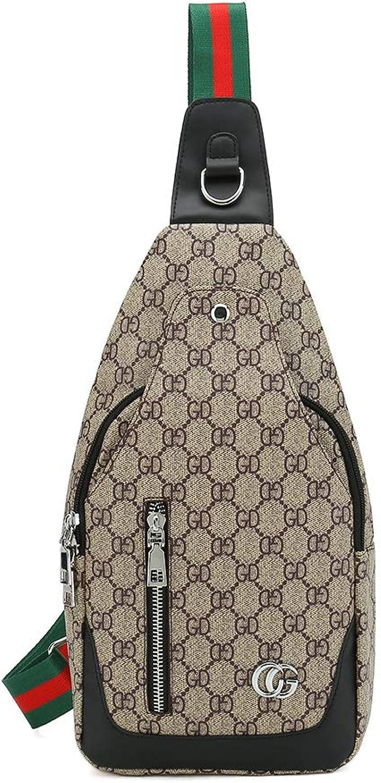 RICHPORTS Umhngetasche aus Leder für Herren Daypack Schulterrucksack Brusttasche Crossbody Taschen für Mehrzweck-Wandern, Radfahren und Reisen