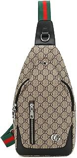 RICHPORTS Leather Sling Bag for Men Daypack Shoulder Backpack Travel Bag …