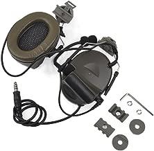 Austin Tactical LLC Z Tactical Softair Aviation Headset Headphone Comtac ii Headset for FAST Helmets and Peltor Helmet Rail Adapter Set