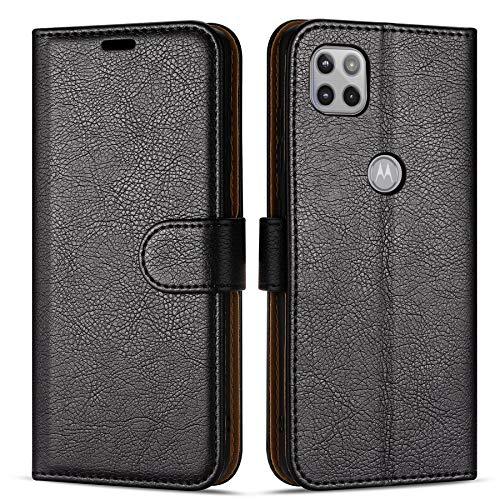 Hülle Collection Hochwertige Leder hülle für Motorola Moto G 5G Hülle (6,7
