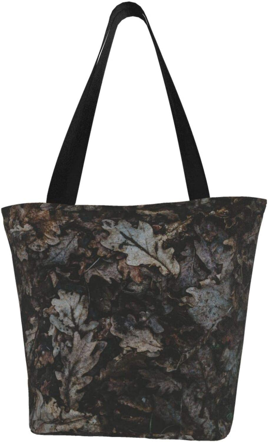 Dried Oak Leaves Autumn Max 55% OFF Extra Max 48% OFF Tote Water Resistant Large Canvas