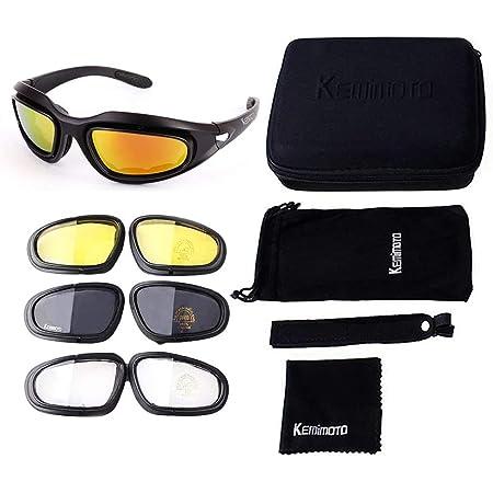 Motorrad Brille Uv Schutz Polarisierte Sonnenbrille Motorradbrille Sportbrille Schutzbrille Motorrad Gläser 4 Lens Kit Mit Aufbewahrungstasche Ideal Für Fahrrad Motorrad Wandern Outdoor Sport Auto