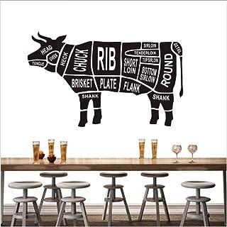 Animales Negros Vaca Parte Del Cuerpo Pegatinas De Pared Para Cocina Restaurante Ation Laboratorio Arte Mural Calcomanías Cartel Decoración Para El Hogar 50 * 82.Cm