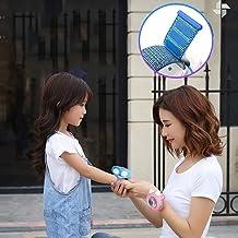 Jolly El Mini Ventilador portátil de Mano Velocidad de Carga USB del Tercer Engranaje portátil se Puede Usar en la muñeca Ventilador portátil de Mano con diseño Desmontable magnético (Color : Blueb)