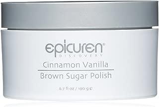 Epicuren Discover Brown Sugar Polish, Cinnamon Vanilla, 6.7 Fl Oz