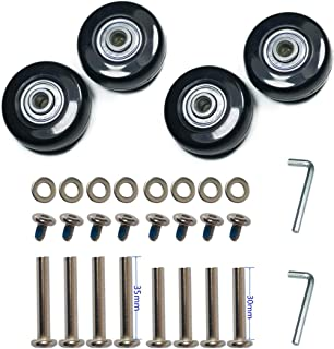 2 Wheels F-ber Luggage Suitcase Wheels Replacement Kit OD 64/68/70/76/78/84/90mm w/ABEC 608zz Skate Inline Outdoor Skate Replacement Wheels with Multiple Sizes One Set of
