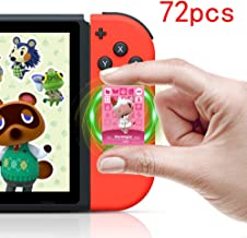 NFC Tag Game Rare Character Villager Cards for Animal Crossing Switch/Switch Lite/Wii U - 72 PCS Mini Cards with Crystal Storage Box