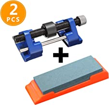 Honing Guide & Sharpening Stone for Chisels and Planes Fixed Angle Blade Sharpener Sharpening Jig Clamping Width Range 0.2''-3.2''(Blue)