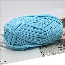 1 pieza = 100 g lana de lana para tejer para alfombras, hilo de algodón, manta de ganchillo a mano, Azul (7 Light Blue), the size, 1