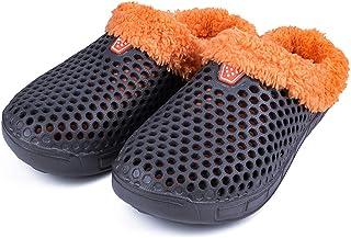 JCmemory Cotton Slippers Indoor Cotton Slippers Men's Slippers Men's Garden Slippers Warm Cotton Shoes Men's Slippers Indoor Outdoor