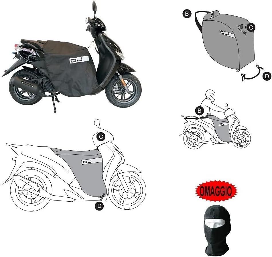 para Yamaha elástica Naked 2014–2019cubrepiernas de Vestir para Scooter OJ C002Fast Manta Térmica Relleno Universal Negro
