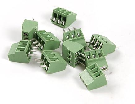 40 pz, 20pairs RUNCCI 5.08 mm distanza 2 Pin 4 Pin plug-in vite PCB terminal block connettore ad angolo retto