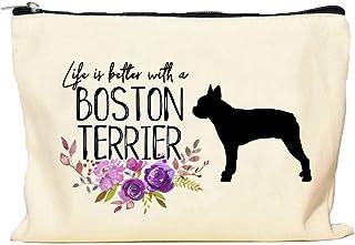 Boston Terrier Life is Better Makeup Bag