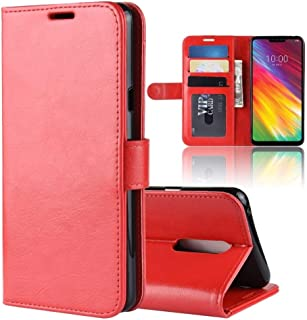 Mobile phone case R64 Texture Horizontal Flip Leather Case For LG G7 Fit, With Holder & Card Slots & Wallet (Color : Red)