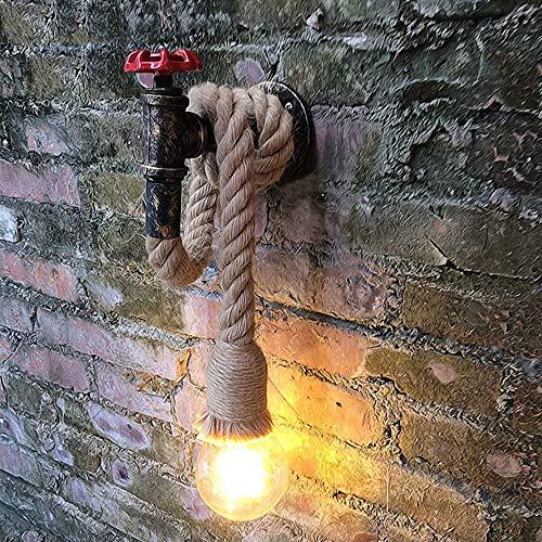 lampada muro vintage LINGJUN Applique da Parete Interni Vintage Industriale Lampada da Parete E27 Decorazione Casa Bar Ristoranti Club Senza Lampadine Scala