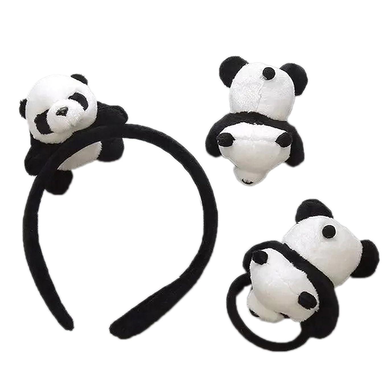 オーストラリアホット閉じるskyflyings 髪飾り ヘアピン ヘアアクセサリー 可愛いパンダ 3個セット 子供用 大人用