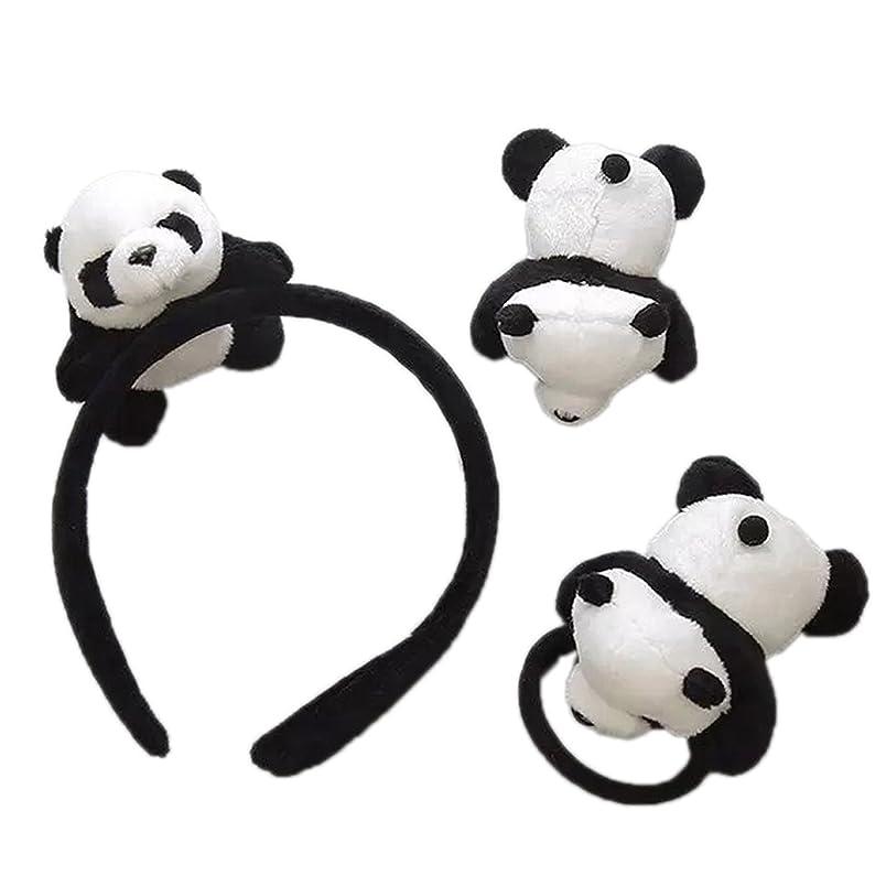 シャツポータル侵入skyflyings 髪飾り ヘアピン ヘアアクセサリー 可愛いパンダ 3個セット 子供用 大人用
