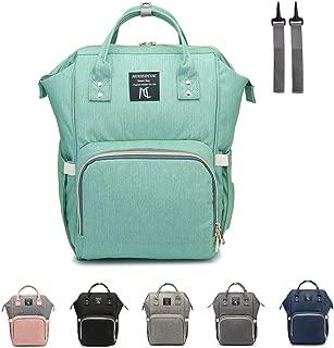 Diaper bag backpack,Nanrui Industry Multi-Function baby backpack diaper backpack (Green)