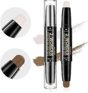 Scala 2Pcs Professional Comestic Double-ended 2 Colors Highlight Contour Stick Pencil 3D Face Concealer Pen Perfect Concealing Blemish Makeup Face Foundation (2Pcs)