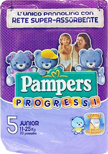 6 x PAMPERS Windeln B.Progressi Junior Größe '5' 11-25 kg 20 Stück