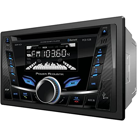 Power Acoustik PCD-52B Double-Din in-Dash Cd/Mp3 AM/FM Receiver with Bluetooth & USB Playback