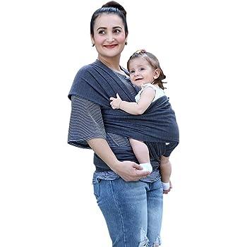 LEHOUR抱っこひもベビースリング 新生児 赤ちゃん抱っこひも授乳に便利 初めての母親のプレゼント肌触りいい使いやすいベビーラップ (深い灰)