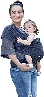 Chinaface 抱っこひも ベビースリング 幼児 新生児 赤ちゃん抱っこひも 授乳に便利 初めての母親のプレゼント 出産祝い 軽量 通気性いい 柔軟 肌触りいい 使いやすい 安全 持ち運び便利お出かけ ベビーラップ 女の子 男の子 (深い灰)