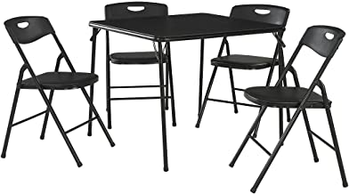 Best costco black 5 piece card table and chair set Reviews
