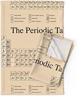 Chemistry Tea Towels Periodic Table Science Nerd Geek Math Steampunk by Robyriker Set of 2 Linen Cotton Tea Towels