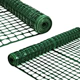 Sunnyglade 4 X100 Ft Outdoor Snow Fence Plastic Safety Temporary Garden Netting for Poultry,Rabbits, Chicken, Dogs,Dark Green