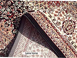 Iyana Home Carpet Kashmiri Design Royal Look Traditional Persian Carpet for Your Living Room & Hall with 1 inch...