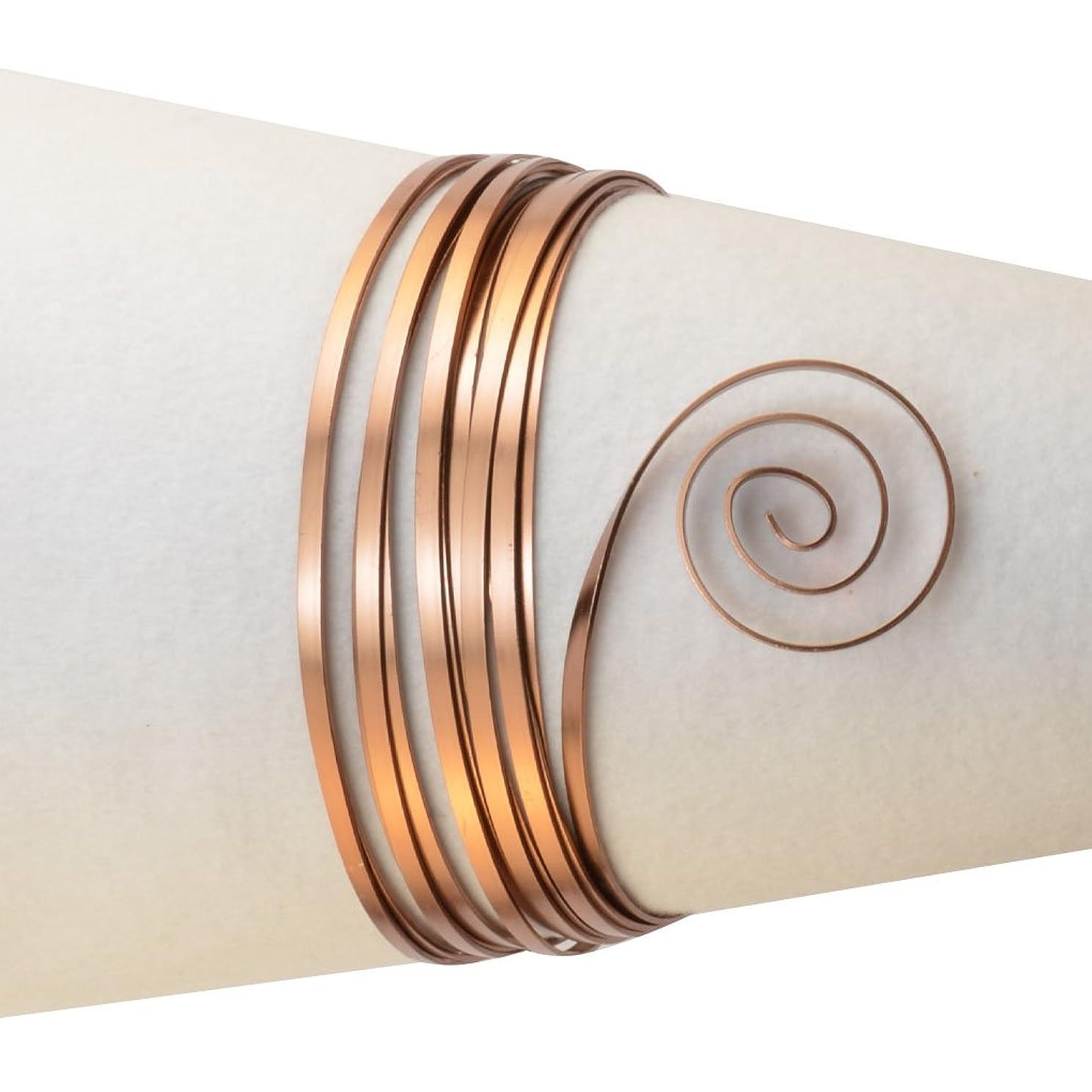 Vaessen Creative Aluminium Flat Wire 5x1mm 5m Brown,