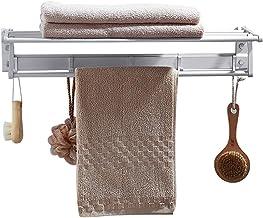 Space aluminium handdoekstang, punch-free opvouwbare badkamerplank, badhanddoekrek-50cm