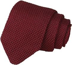 Elfeves Men's Skinny Knit Tie Vintage Smart Patterned Solid Color Casual Necktie