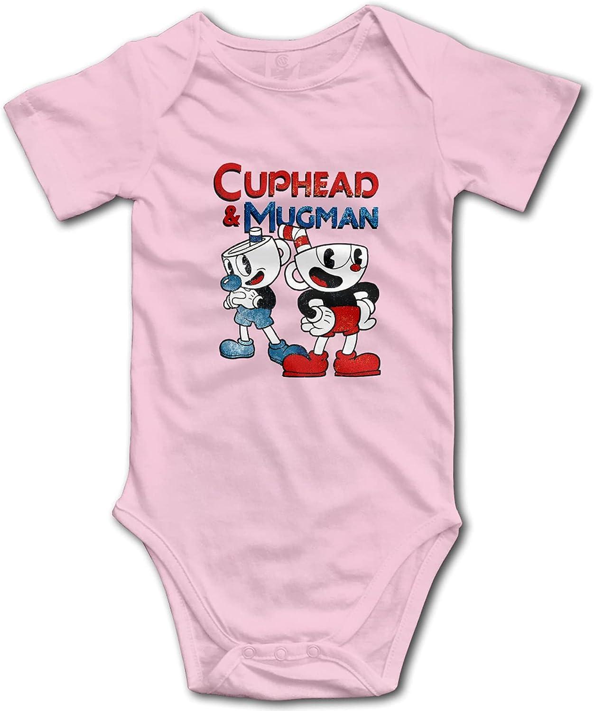 Cuphead Mugman Baby Gorgeous Cotton Bodysuit B Elegant Short Basics Sleeve