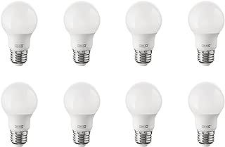 IKEA Ryet E26 Energy Saving LED Light Bulb Bundle - 35 Watt Equivalent - Warm White - 2700 Kelvin - Globe Opal - Non Dimmable, 8 Pack [400 Lumen]