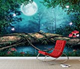 Fantasy Enchanted Fairy Pond Wall Mural Photo Wallpaper Girls Bedroom Decal (Large 1500mm x 1150mm)