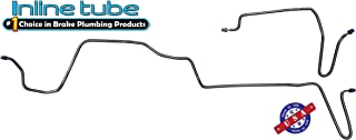 Compatible With 1979-1981 Firebird Trans Am Four Wheel Disc Rear Axle Brake Line Kit Set, OE Steel (V-7-1)