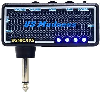 SONICAKE Amplificador de bolsillo para uso con auriculares US Madness para Bajo