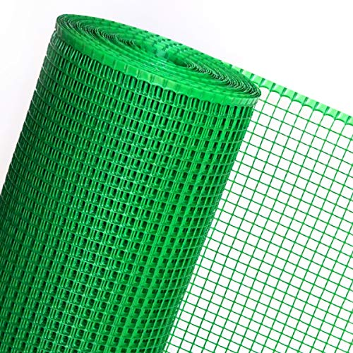 HaGa® Kunststoffzaun Geflügelzaun Zaun grün in 0,6m Höhe 15mm (Meterware)