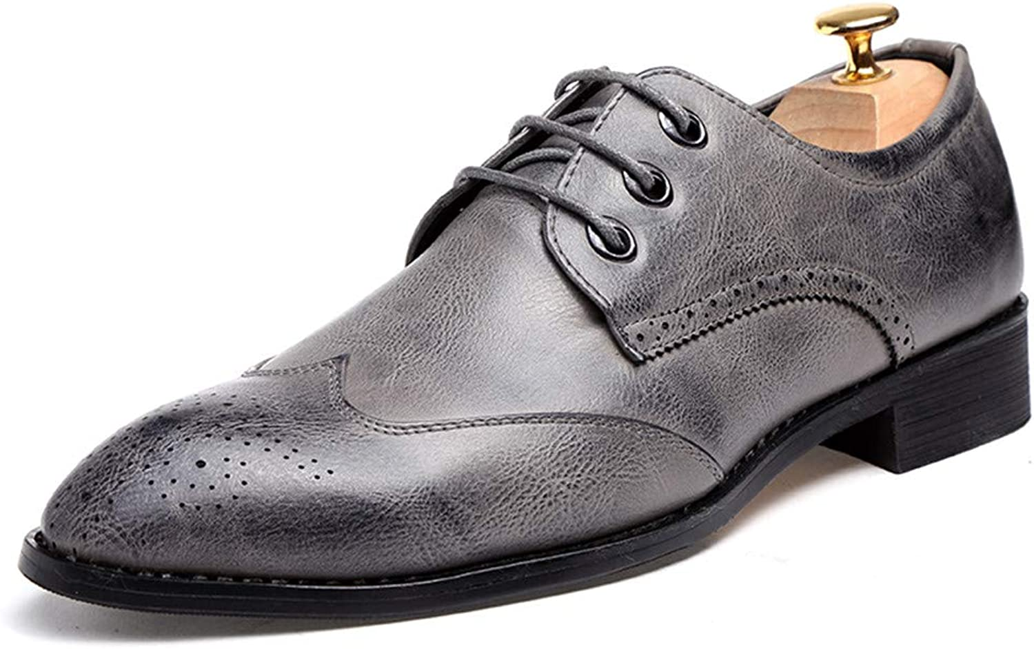 shoes Men's Business Oxford Casual Trend Comfortable Classic Pointed Brogue shoes Leather shoes