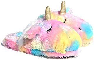 Unicorn Animal Slippers | Indoor Women Slippers | Cozy Plush Home Shoes | Cute Fluffy Girls Slippers