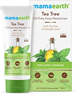 Mamaearth Tea Tree Oil-Free Moisturizer For Face For Oily Skin with Tea Tree & Salicylic Acid for Acne & Pimples – 80 ml