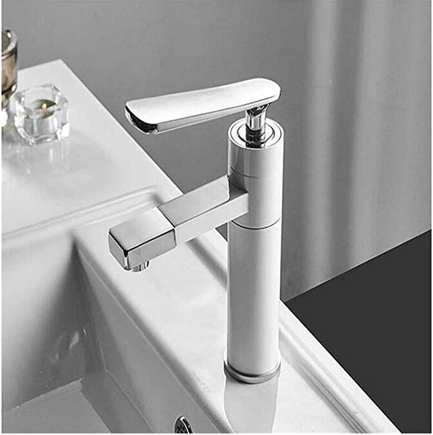 Luxury Modern Hot and Cold Faucet Vintage Platingmodern Sink Faucet Single Handle Hole Deck Mounted Wash Hot Cold Mixer Tap